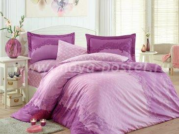 Фиолетовое постельное белье «FILOMENA» из сатина, евро в интернет-магазине Моя постель
