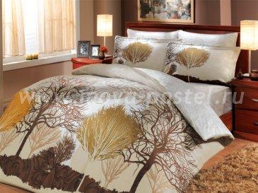 Кремовое постельное белье «INFINITY» из сатина с принтом деревьев, полутороспальное в интернет-магазине Моя постель