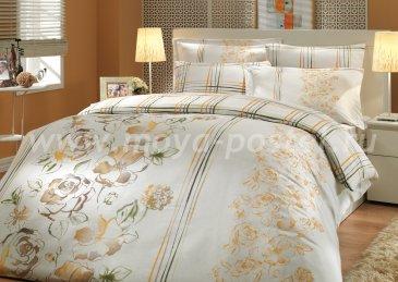Коричневое постельное белье «ARABELLA» евро размера, сатин в интернет-магазине Моя постель