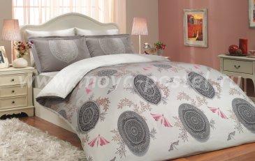 Постельное белье «ALICE» из сатина, лилового цвета, евро в интернет-магазине Моя постель