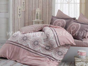 Розовое постельное белье из сатина «SILVANA», евро в интернет-магазине Моя постель
