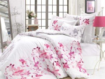Фиолетовое постельное белье евро размера «LUCIA», сатин в интернет-магазине Моя постель