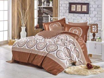 Коричневое постельное белье из сатина «SILVANA», евро в интернет-магазине Моя постель