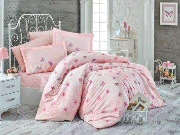 Персиковое постельное белье «MARIA» из сатина, евро в интернет-магазине Моя постель