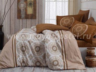 Бежевое постельное белье из сатина «SILVANA», семейное в интернет-магазине Моя постель