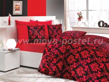 Черно-красное постельное белье евро размера «AVANGARDE», сатин в интернет-магазине Моя постель