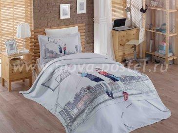Постельное белье «SAN-DIEGO» с покрывалом из жаккарда, полутороспальное в интернет-магазине Моя постель