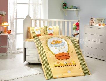 Постельное белье для детей «BAMBAM» желто-зеленое, поплин в интернет-магазине Моя постель
