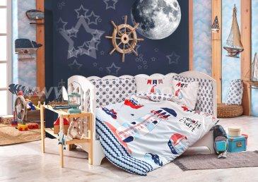 Детское постельное белье «BABY SAILOR» синего цвета в интернет-магазине Моя постель