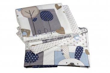 Комплект постельного белья с одеялом детское поплин ''SWEET HOME'', синий, 100% Хлопок в интернет-магазине Моя постель
