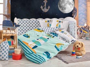 Детское постельное белье «BABY SAILOR» мятного цвета в интернет-магазине Моя постель