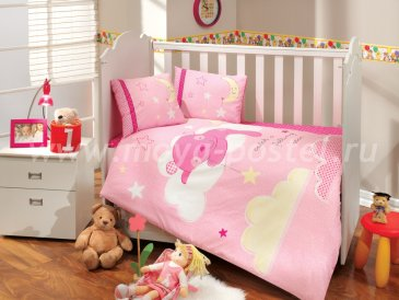 Розовое постельное белье с одеялом «SLEEPER» из поплина, детское в интернет-магазине Моя постель