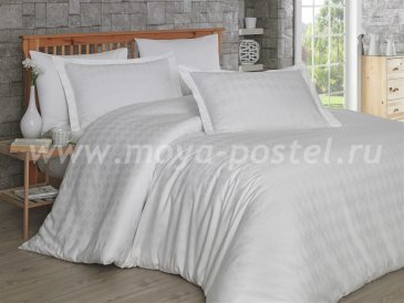 Семейное постельное белье «BULUT», кремовое, сатин-жаккард в интернет-магазине Моя постель