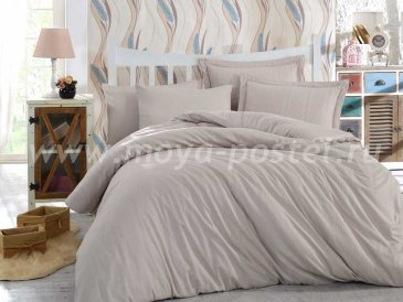 Семейное постельное белье «STRIPE» кремового цвета, сатин-жаккард в интернет-магазине Моя постель
