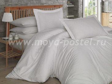 Полуторное постельное белье «DAMASK», сатин-жаккард, кремовое в интернет-магазине Моя постель
