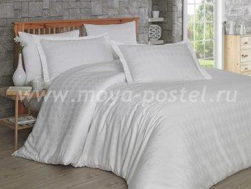 Кремовое постельное белье «BULUT», сатин-жаккард, полутороспальное в интернет-магазине Моя постель