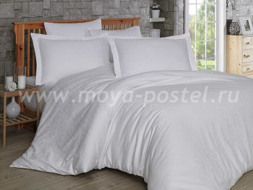 Постельное белье из сатин-жаккарда «DAMASK», белое, семейное в интернет-магазине Моя постель