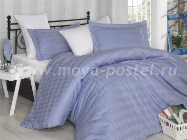 Лилово-белый постельное белье «BULUT», сатин-жаккард, полутороспальное в интернет-магазине Моя постель