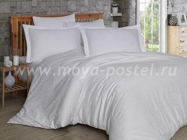 Евро комплект постельного белья «DAMASK», белый, сатин-жаккард в интернет-магазине Моя постель