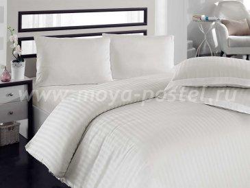 Евро постельное белье из бамбука «DIAMOND STRIPE», кремовое в интернет-магазине Моя постель