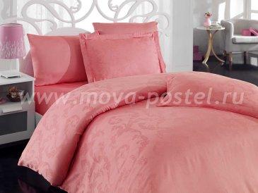 Постельное белье из бамбука «DIAMOND FLOWER», коралловое, евро в интернет-магазине Моя постель
