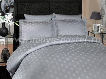 Постельное белье из бамбука «DIAMOND SPOT», серое, евро в интернет-магазине Моя постель