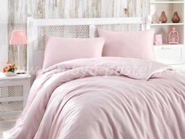 Светло-розовое постельное белье евро размера «SHINE», бамбук в интернет-магазине Моя постель