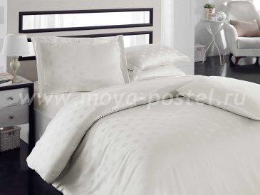 Семейное постельное белье «DIAMOND SPOT» из бамбука, кремовое в интернет-магазине Моя постель