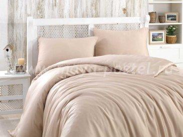 Бежевое постельное белье евро размера «SHINE», бамбук в интернет-магазине Моя постель