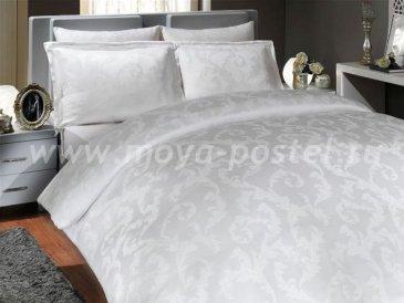 Постельное белье из бамбука «DIAMOND FLOWER», белое, семейное в интернет-магазине Моя постель