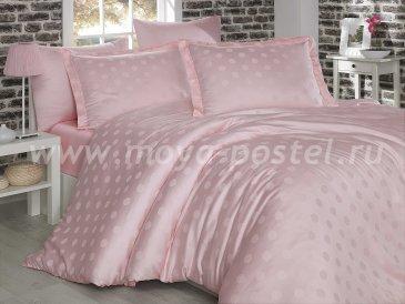 Семейное постельное белье «DIAMOND SPOT» из бамбука, нежно-розовое в интернет-магазине Моя постель