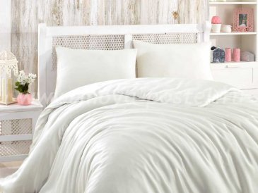 Кремовое постельное белье евро размера «SHINE», бамбук в интернет-магазине Моя постель