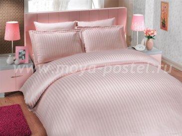 Постельное белье «DIAMOND STRIPE» цвета пудры, бамбук, семейный размер в интернет-магазине Моя постель