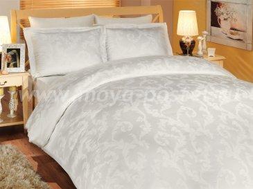 Постельное белье из бамбука «DIAMOND FLOWER», кремовое, семейное в интернет-магазине Моя постель