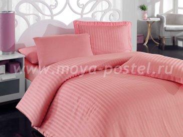 Евро постельное белье из бамбука «DIAMOND STRIPE», пудра в интернет-магазине Моя постель
