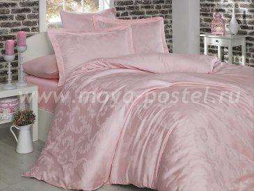 Постельное белье из бамбука «DIAMOND FLOWER», нежно-розовое, семейное в интернет-магазине Моя постель
