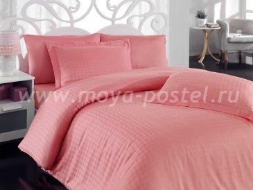 Розовое постельное белье «DIAMOND HOUNDSTOOTH» из бамбука, евро в интернет-магазине Моя постель