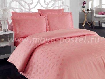 Семейное постельное белье «DIAMOND SPOT» из бамбука, пудра в интернет-магазине Моя постель