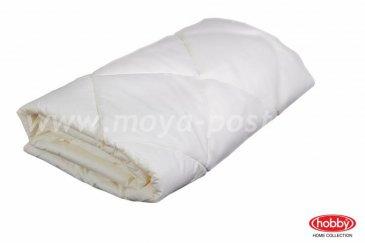 Одеяло 1,5 сп. с наполнителем из синтепона лайт (155*215), белый, 100% Хлопок в интернет-магазине Моя постель