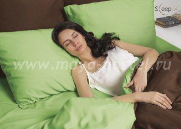 Постельное белье Perfection Цвет: Зелень + Темный Шоколад  евро в интернет-магазине Моя постель