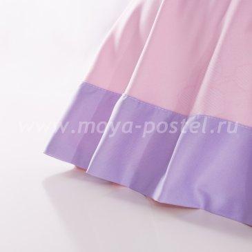 Лилово-розовое постельное белье с градиентом «Misaki» (Расцвет красоты), двуспальное в интернет-магазине Моя постель
