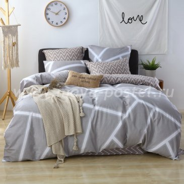 Постельное белье на резинке AR067 (евро 180*200*25) в интернет-магазине Моя постель
