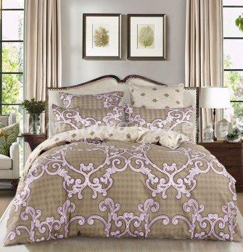 Комплект постельного белья Делюкс Сатин на резинке LR135, двуспальное простыня 160*200 в интернет-магазине Моя постель