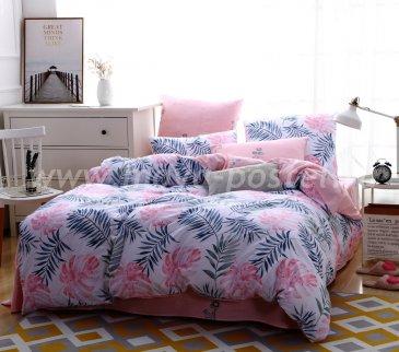 Комплект постельного белья Делюкс Сатин на резинке LR140, двуспальный в интернет-магазине Моя постель