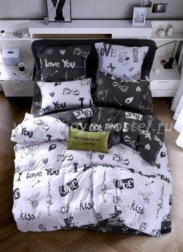Постельное белье на резинке LR155 (двуспальное 50*70, 180*200*25) в интернет-магазине Моя постель