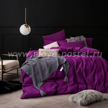 Фиолетовое постельное белье CS027 (двуспальное 50*70) в интернет-магазине Моя постель