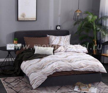 Комплект постельного белья Сатин подарочный AC063, полуторный в интернет-магазине Моя постель