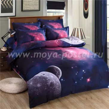 Постельное белье Космос CK002 (двуспальное, 70*70) в интернет-магазине Моя постель
