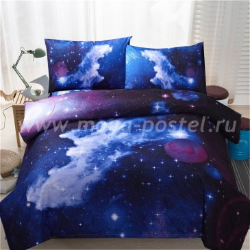 Постельное белье Космос CK013 двуспальное в интернет-магазине Моя постель
