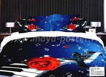 Постельное белье TS03-057  сатин Евро 2 наволочки в интернет-магазине Моя постель